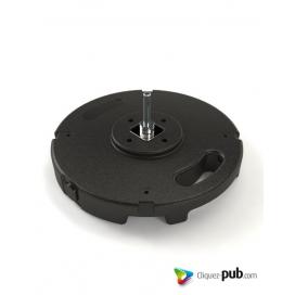 Socle pvc béton 10kg avec axe pour mats WF/FF et VF