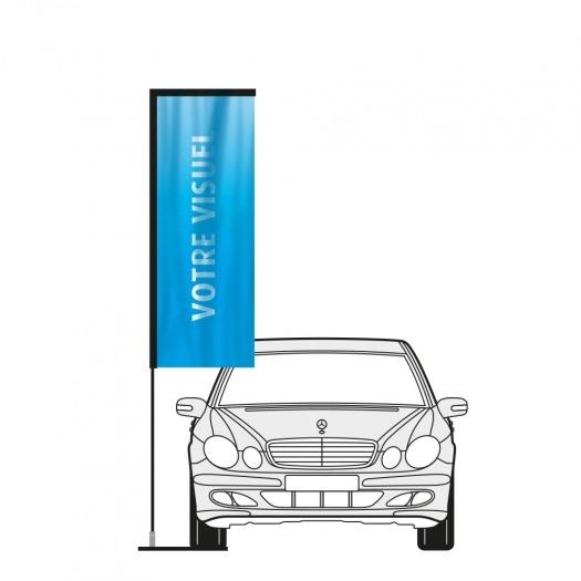 Kit Vertical flag garage auto
