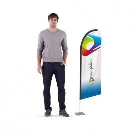 Mini Wind Flag d'intérieur 1m50