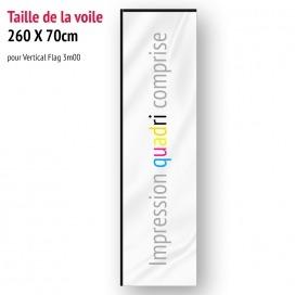 Voile pour Vertical Flag 3m00 (voile seule)