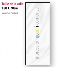 Voile pour Vertical Flag 2m10 (voile seule)