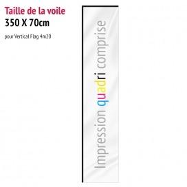 Voile pour Vertical Flag 4m20 (voile seule)