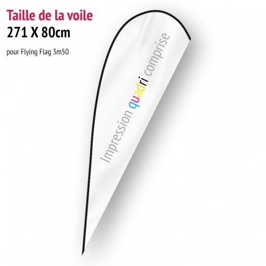 Voile pour Flying Flag 3m50 (voile seule)