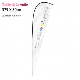 Voile pour Flying Flag 4m80 (voile seule)