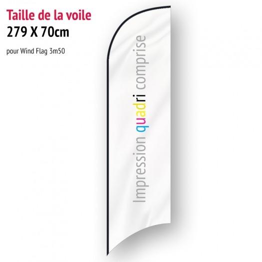 Voile pour Wind Flag 3m50 (voile seule)