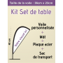 Mini voile publicitaire Set de table