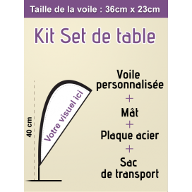 Mini voile publicitaire Set de table