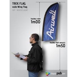 Kit Voile Wind Flag sur sac à dos