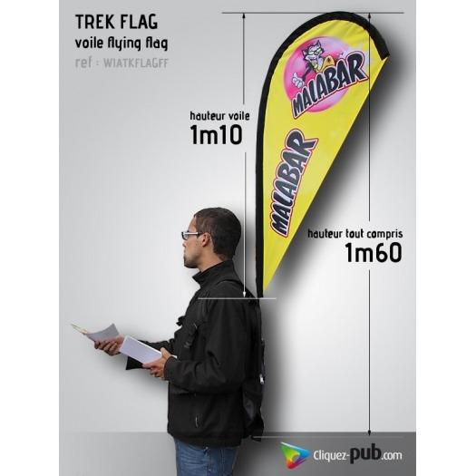 Kit Voile Flying Flag sur sac à dos
