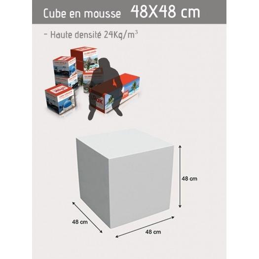 Cube personnalisable 48 x 48 x 48 cm