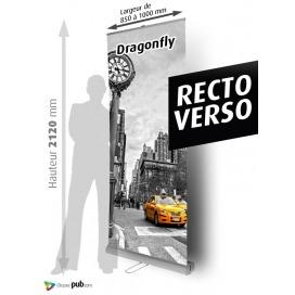 DRAGONFLY 2 RECTO/VERSO hauteur 2 m