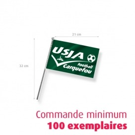 Drapeau supporter - Taille Mini 21 X 14.8 cm