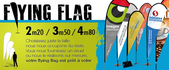 Drapeaux publicitaires Flying Flag - Cliquez Pub
