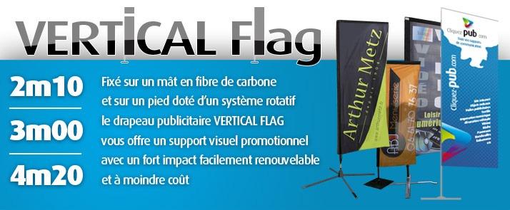 Drapeaux publicitaires Vertical Flag - Cliquez Pub