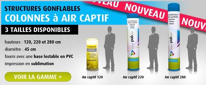 Colonnes gonflables AIR CAPTIF
