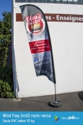 Wind Flag 3m50 impression recto-verso