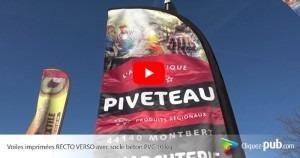 3 nouvelles vidéos de voiles oriflammes publicitaires