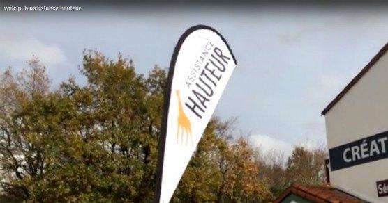 Vidéo de Flying Flag 2m20 Impression recto pour Assistance Hauteur